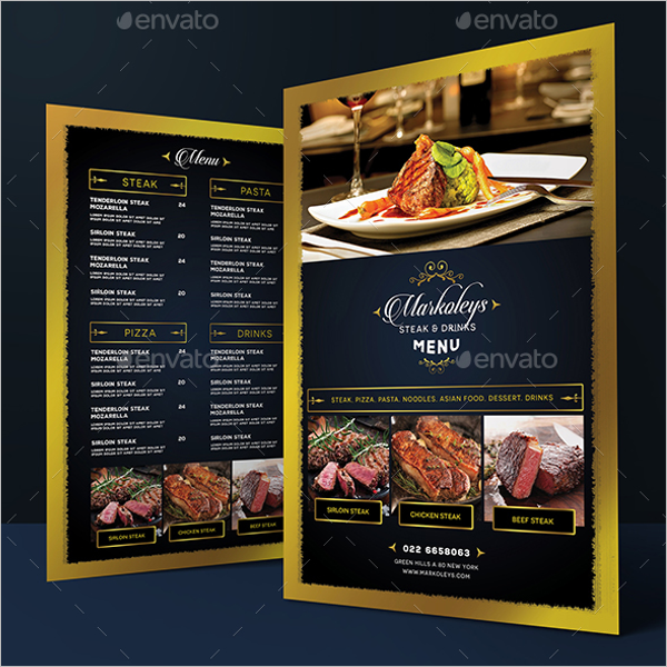 Menu Card Template Publisher