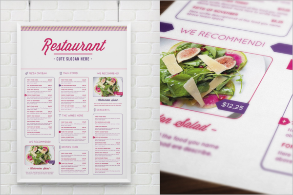 Menu Place Card Design