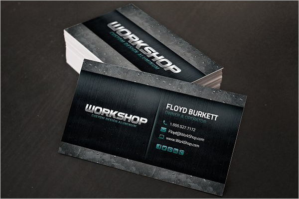 MetalAutomotive Business Card Design