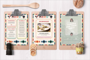 Mexican Food & Drink Menu Card Idea