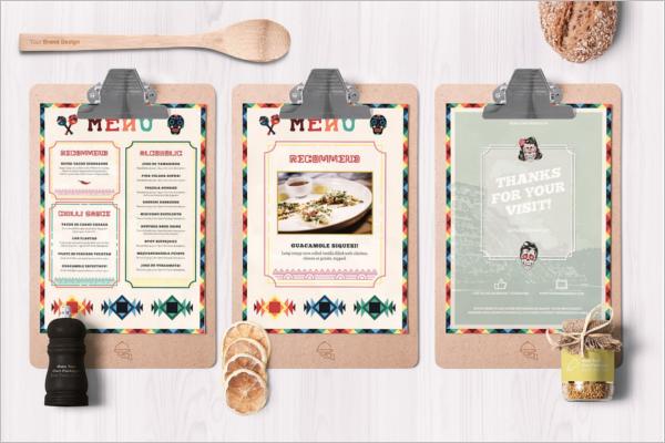 Mexican Food &Drink Menu Card Idea
