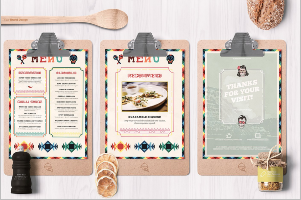 Mexican Food Menu PSD Template