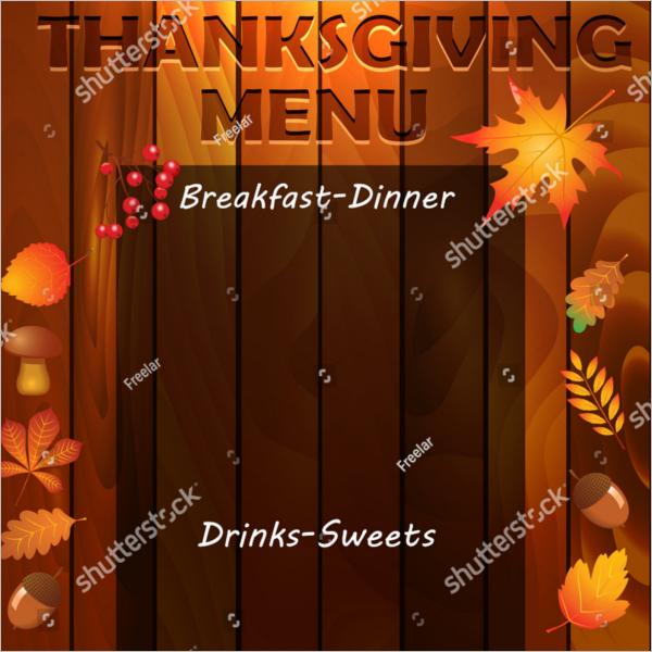 Microsoft ThanksgivingMenu Template