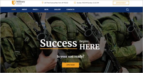 MilitarySchool Joomla Template