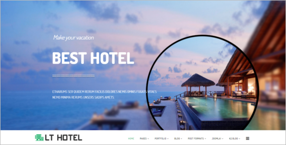 Mobile Friendly Hotel Joomla Template