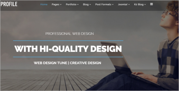 Mobile Friendly Joomla Personal Template