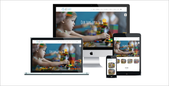 Mobile Friendly Kids Joomla Template