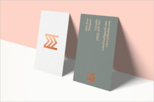 Model Visiting Cards Mockup Design