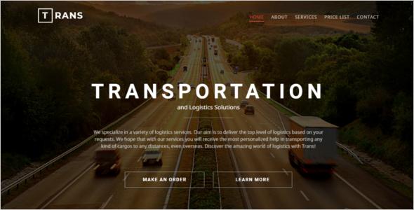 Modern Transportation HTML5 Template
