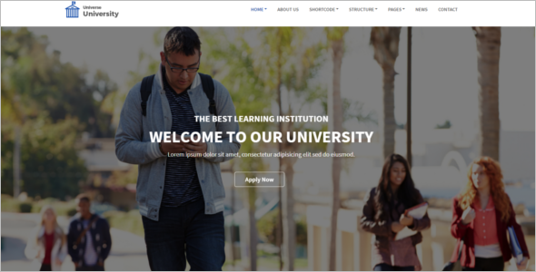 Modern University HTML5 Template