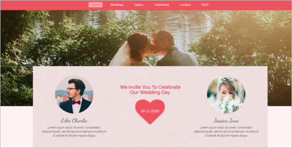 Modern Wedding HTML5 Template