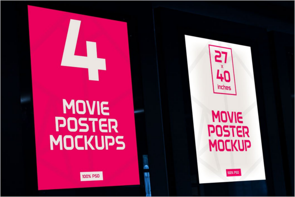 Movie Poster Mockup Template