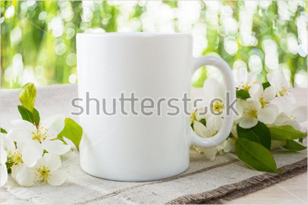Mug Mockup with Apple