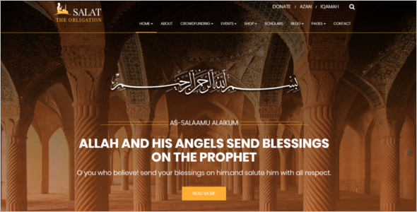 Multilingual Arabic WordPress Theme