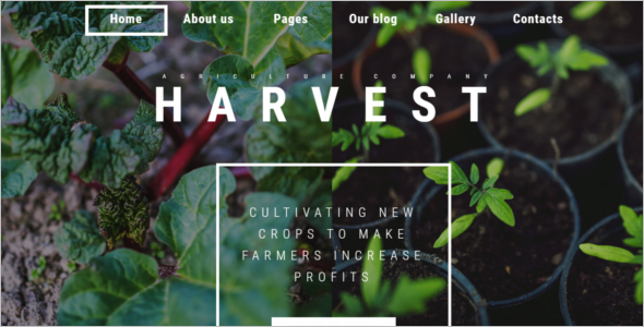 Multi Use Agriculture HTML5 Template