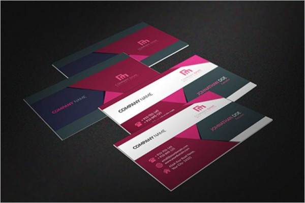 Multicolor Business Card MockupFree