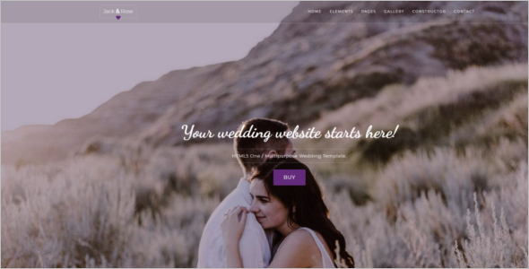 Multipage Wedding HTML5 Template