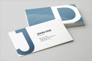 Multiple Angles Visiting Cards Mockup Design