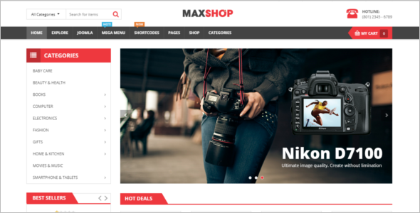 Multipurpose eCommerce Joomla Template