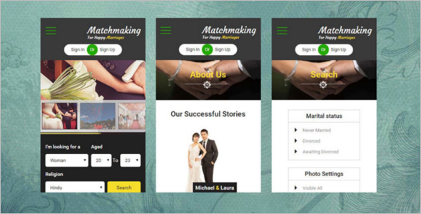 Muslim Matrimonial Website Template