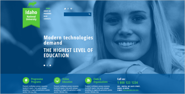 National University Joomla Template