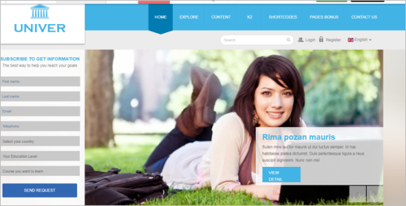 Nice University Joomla Education Template