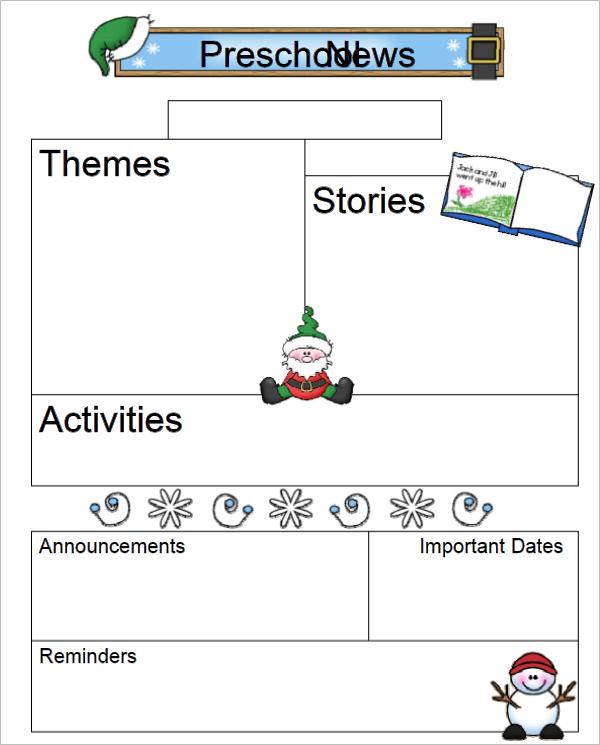 20 free school newsletter templates word pdf samples design ideas nursery school newsletter template maxwellsz
