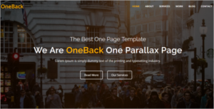 One Page Animated HTML5 Template