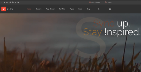 One Page Animated Joomla Template
