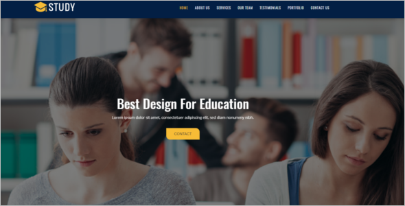 One Page Education HTML5 Template