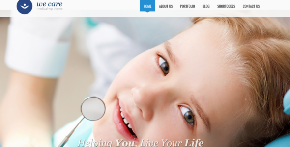 One Page Hospital Website Template