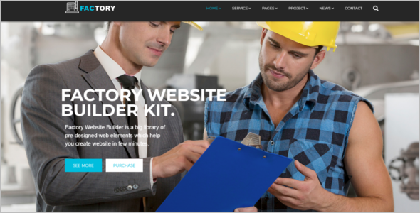 One Page Industrial HTML5 Template