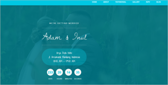 One Page Matrimonial Website Template