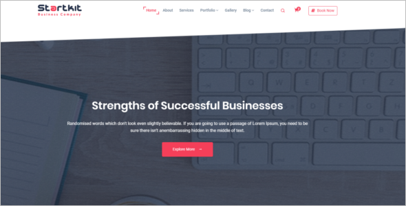 One Page Professional HTML5 Template