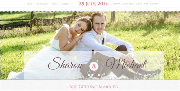 One-Page Wedding HTML5 Template