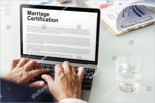 OnlineMarriage Certificate Format