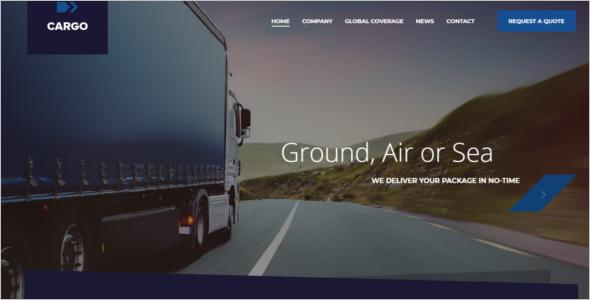 Online Transport Website Template