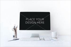Online iMac Mockup Design