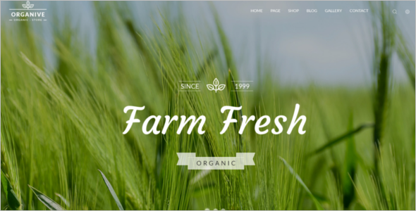 Organic Farm WordPress Theme