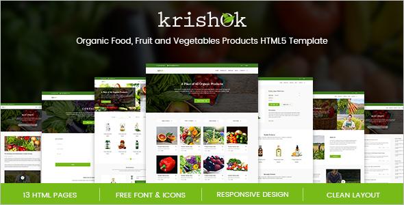 Organic Food HTML5 Template