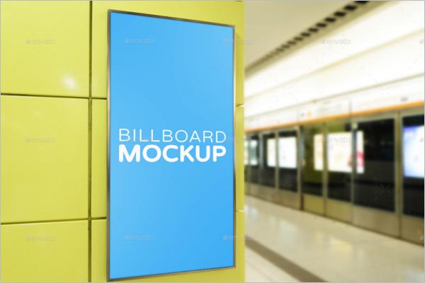 Outdoor Billboard Mockup Template