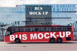 Outdoor Bus Mockup Design