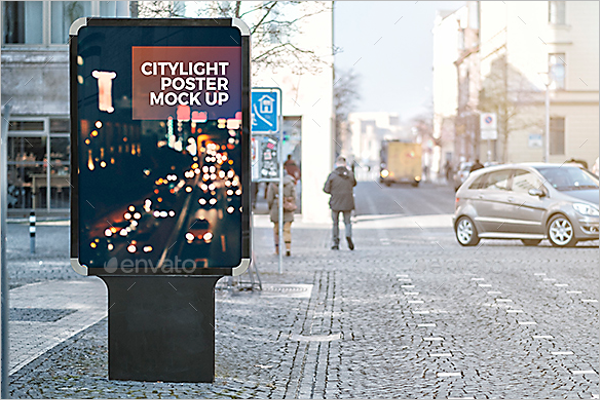 Outdoor Poster Mockup Template