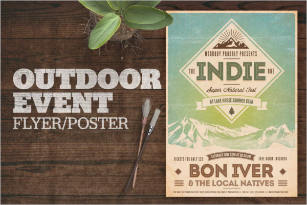 Outdoor Poster Template Photoshop