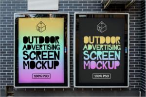 Outdoor Screen Mockup Design
