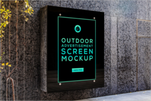 Outdoor Screen Mockup Free PSD