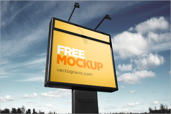 Outdoor Sign Mockup Free PSD
