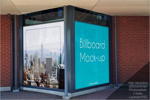 Outdoor Signage Mockup Design