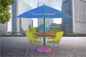 Outdoor Sun Umbrella Mockup Design
