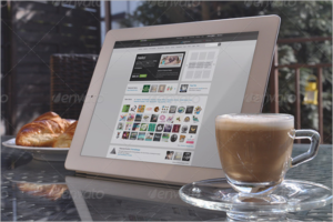 Outdoor Tablet Mockup Design